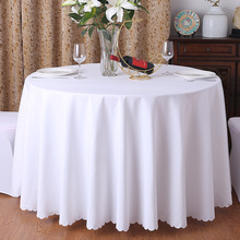 24-color tablecloth restaurant hotel banquet round table white washable dirty oil-resistant