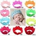 Crochet crown tiara headband newborn Princess Headbnad Glitter Crown Headband baby crowns