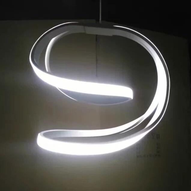 2017 Modern LED Pendant Lights For Living Room lamparas de techo Indoor Lamp Light Fixture luminaires suspendus lustre D25cm 30W modern led pendant lights creative wave circular lamps restaurant hanging aluminum light fixture luminaires suspendus lustre