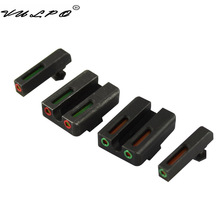 VULPO Glock Sight Steel Made Red green Fiber Optic Front with Combat Rear Sight for Glock цены онлайн