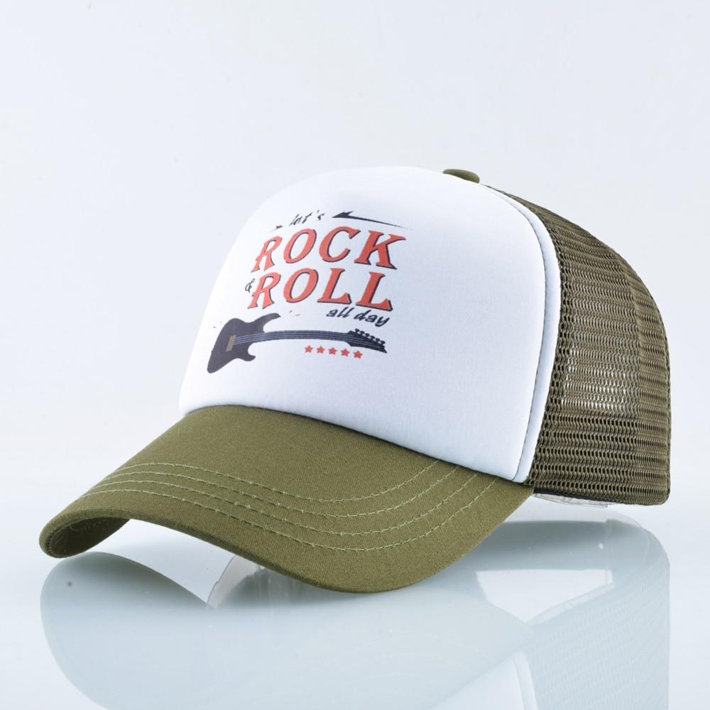 Unisex Trucker Hat Rock /& Roll Summer Mesh Hat Men Baseball Cap Fashion Mens Hat