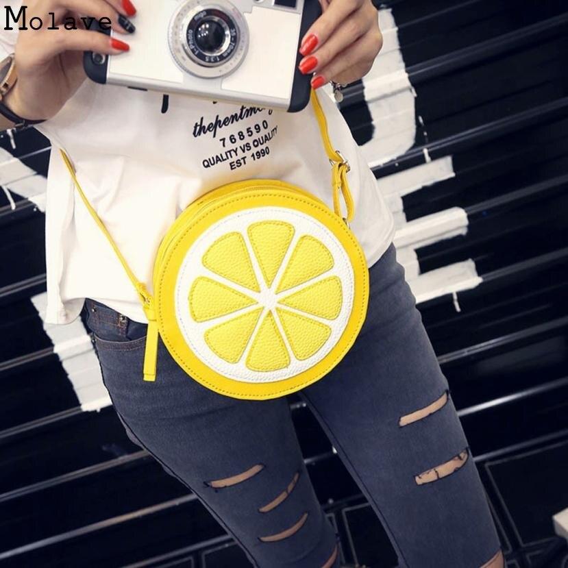 Новое поступление 2017 года круглый лимонный узор молния Crossbody Для женщин Курьерские сумки Сумка кошелек плеча двойного назначения мини Сумк...