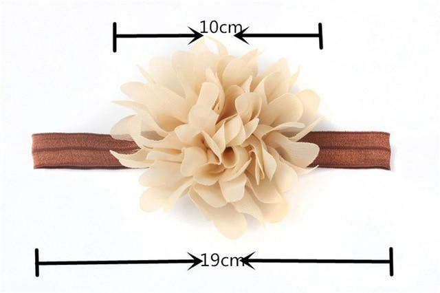 Hot Sale Baby Girl Elastic Hairband Children Hair Wear For Kids Head Band Flower Headband Baby Hair Accessories 4