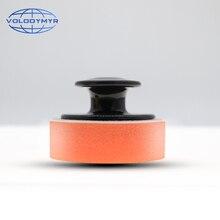 Almohadilla aplicadora de cera, productos para el cuidado del coche, accesorios, esponja con mango, 6,5x6,5x4cm, herramientas de detalle automático