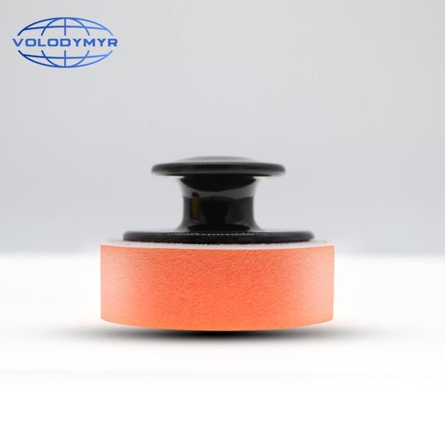 Aplikator wosku Pad pielęgnacja samochodu produkty akcesoria gąbka z uchwytem 6.5*6.5*4cm Auto Detailing Tools