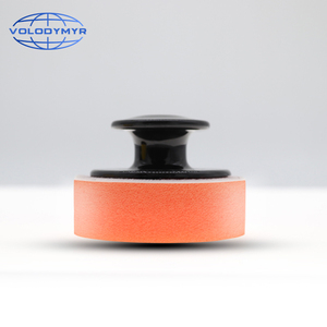 Image 1 - Wax Applicator Pad Car Care Products Accessories Sponge With Handle 6.5*6.5*4cm Auto Detailing Tools
