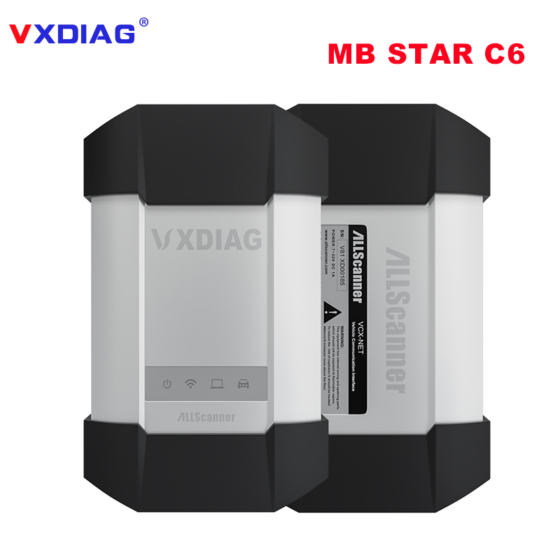 VXDIAG C6 Professional OBD2 Diagnostic Tool for Benz Powerful than MB SD C4/C5 With Wireless For Mercedes Benz Car and Truck top quality for mercedes for benz cr1 cr2 immo emulator for mercedes for benz mb immobilizer emulate tool