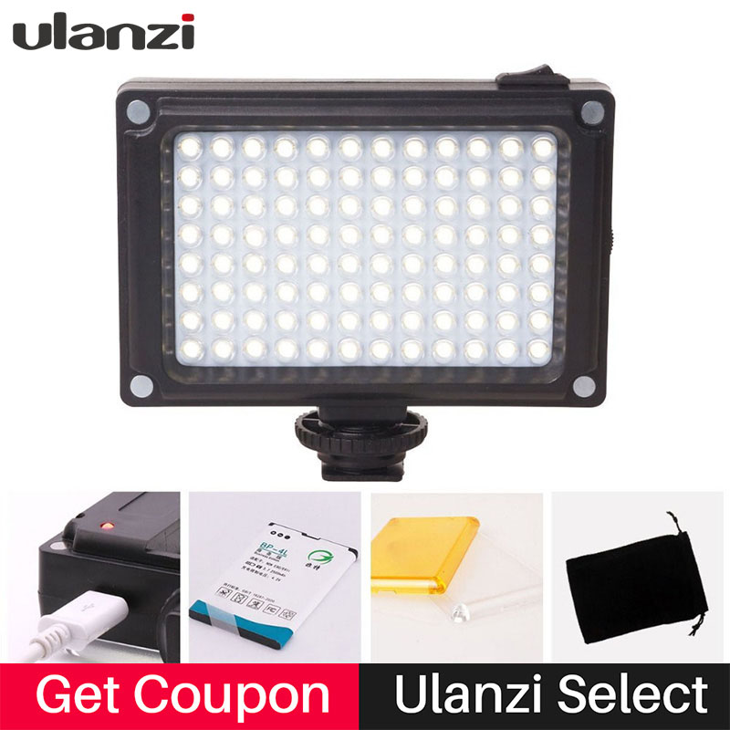 Ulanzi on Camera LED Video Light w Hot shoe mount for Canon Nikon Sony Camcorder DSLR,96 led Video Lamp for LiveStream Filmmaker цена