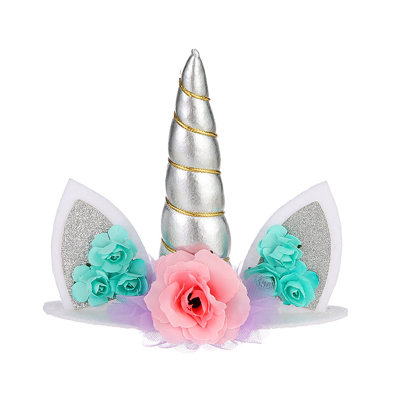 1Pc Unicorn Party Cake Topper Birthday Decoration Kids Baby Shower Decor Supplies