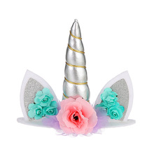 1Pc Unicorn Party Cake Topper Birthday Decoration Kids Baby Shower Decor Supplies