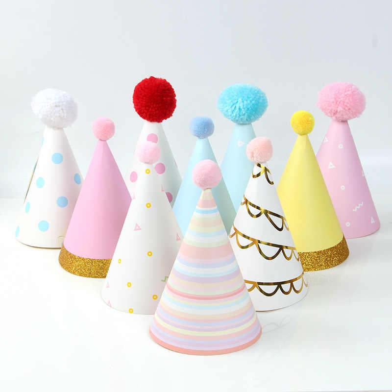 Новая горячая вспышка золотой шар праздничный колпак большой шар День Рождения Вечеринка Дети взрослый праздничный колпак мультфильм торт Топпер Единорог Вечерние