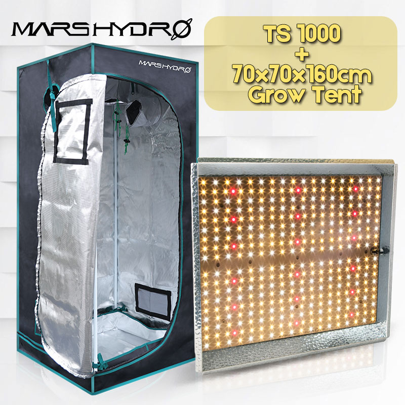 Mars Hydro TS 1000W Led Grow Light +70x70x160cm Grow Tent  Full Spectrum Indoor Plants Garden Hydroponics Plant Growing Light