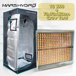 Mars Hydro TS 1000W led wachsen licht + 70x70x160cm Wachsen zelt Volle spektrum innen pflanzen Garten hydrokultur pflanze wachsen licht