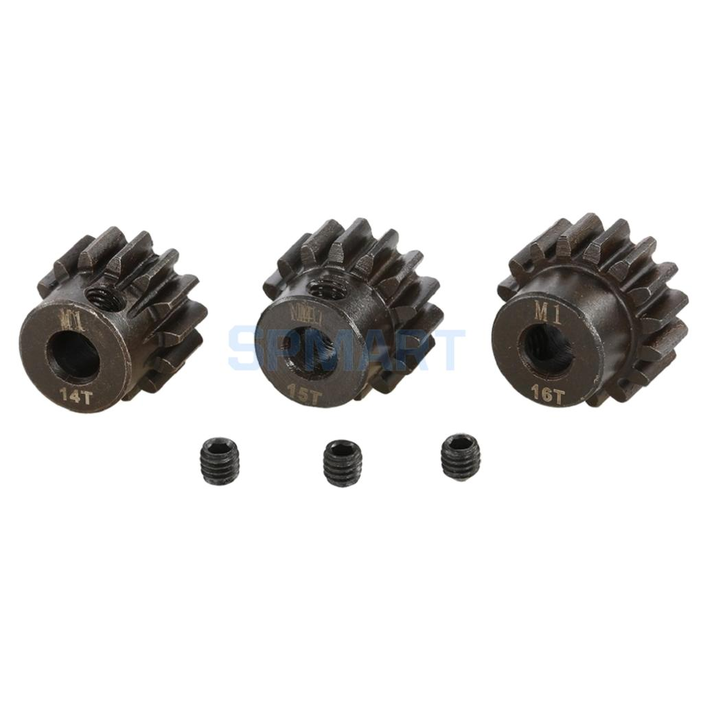 M1 14T 15T 16T Pinion Motor Gear 5mm Shaft for 1/8 RC Buggy Car Monster Truck Parts Replacement hsp 02024 differential diff gear complete 38t for 1 10 rc model car spare parts fit buggy monster