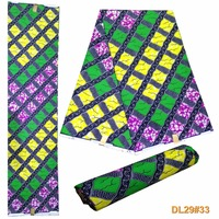 Super Wax African Clothing High Quality 100 Cotton Green African Fabric 6 Yards Smt 12 1