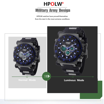 HPOLW Luxury Brand Mens Sports Watches Dive Digital LED Military  Watch Men Fashion Casual Electronics Wristwatches Clock 3