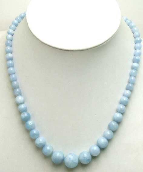 """Lớn 5-11 mét vòng Cao chất lượng Tự Nhiên xanh đá Tốt Nghiệp 17 """"necklace-nec5397"""