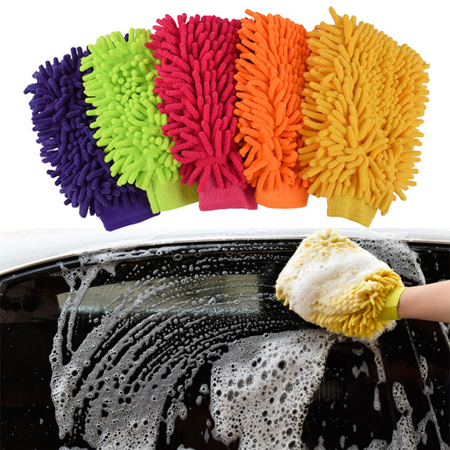 Microfiber Anthozoan Car Washing Gloves Car cleaning Motorcycle Washer Car Care Drying Products Cleaning Brushes Car Styling