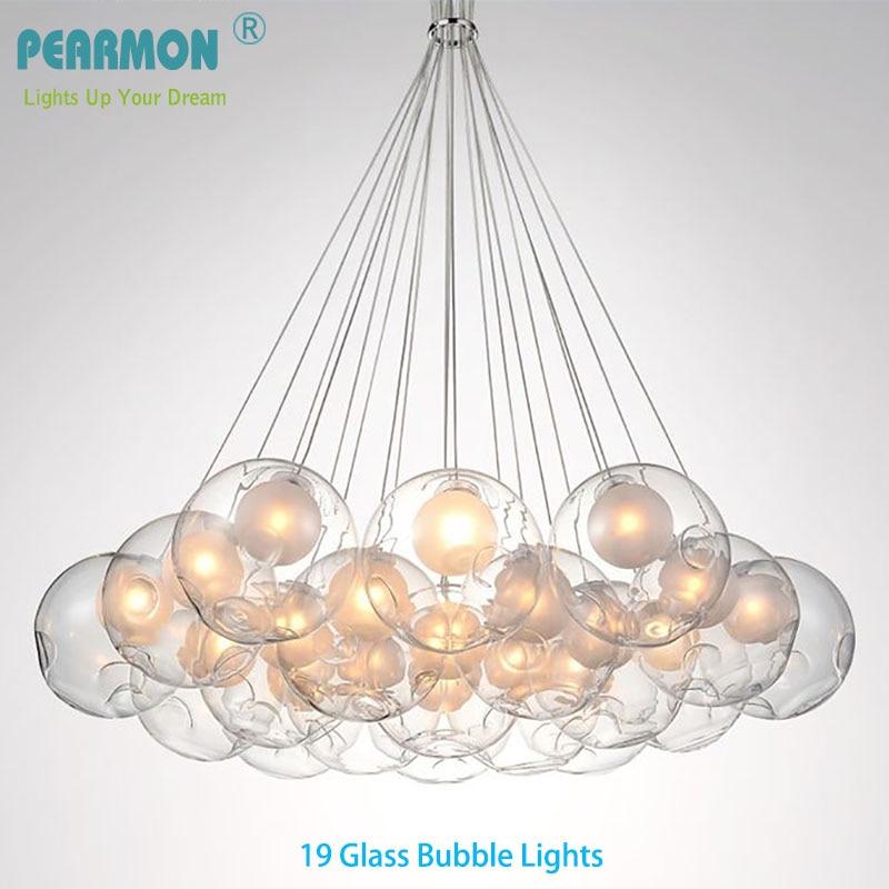 Creative Double Boule En Verre Bubble Ball Lustre Lampe Moderne Pendentif Lampe Salle À Manger Vêtements Boutique Café Pendants Lumières Luminaire