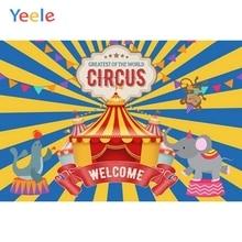 Yeele Vinyl Circus Animals Children Birthday Party Photography Backdrops Baby Child Stripe Photographic Backgrounds Photo Studio