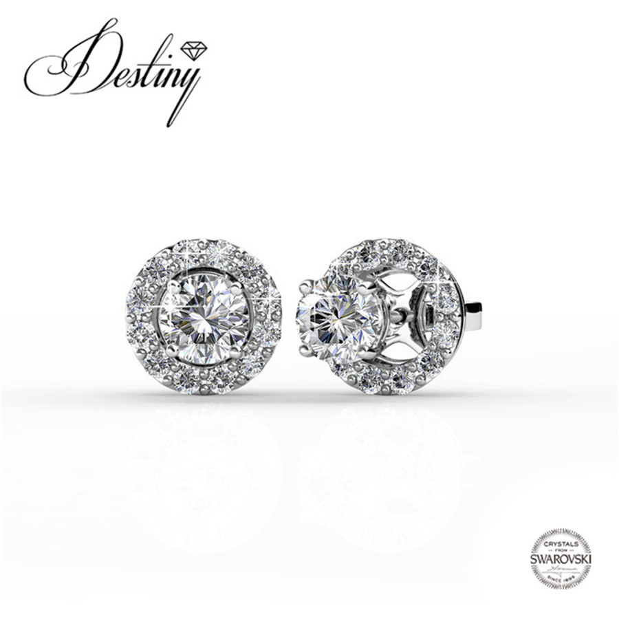 Destiny Jewellery Embellished with crystals from Swarovski earrings Dylis Earrings double earrings DE0144