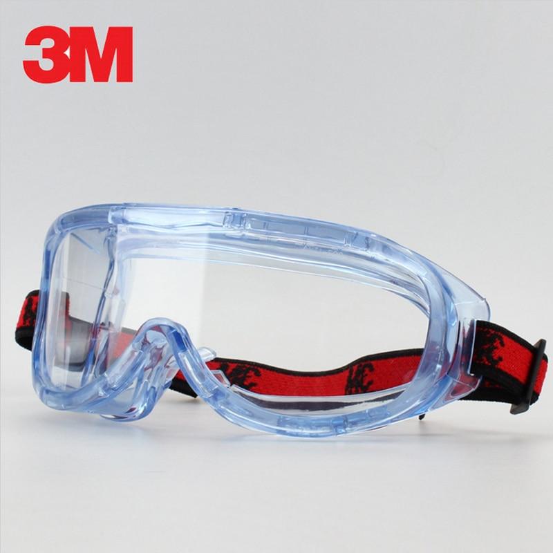 3 M 1623af anti-impacto y química Splash Gafas gafas Gafas de protección economía clara anti-fog lente ojo trabajo de protección