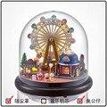 B023 Parque em miniatura casa de bonecas mini modelo bola de vidro Kits de construção de madeira Em Miniatura Casa De Bonecas de Brinquedo de Presente