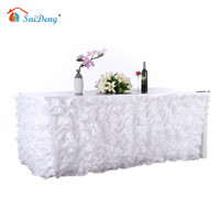 SaiDeng New Handmade Elegant Tulle Table Skirt For Party Meetings Wedding And Home Decoration Tulle Table