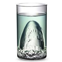 Funny Shark Beer Cup 350ml The Creative Red Wine Glasses Double Deck Glass Creative Bar Glass