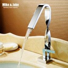 Büküm krom banyo musluk havzası vinç su musluk batarya torneira musluk su dokunun pirinç mikserler MJ9999