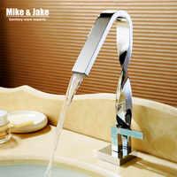 Twist chrome salle de bains robinet bassin grue robinet d'eau bassin mélangeur torneira robinet d'eau en laiton mélangeurs MJ9999
