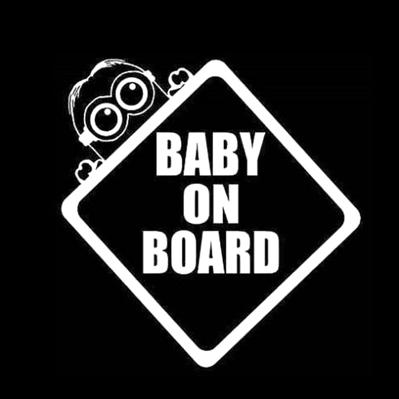 CMCM Baby On Board Minion Bumper Sticker Window Car Stickers - Custom decal stickers