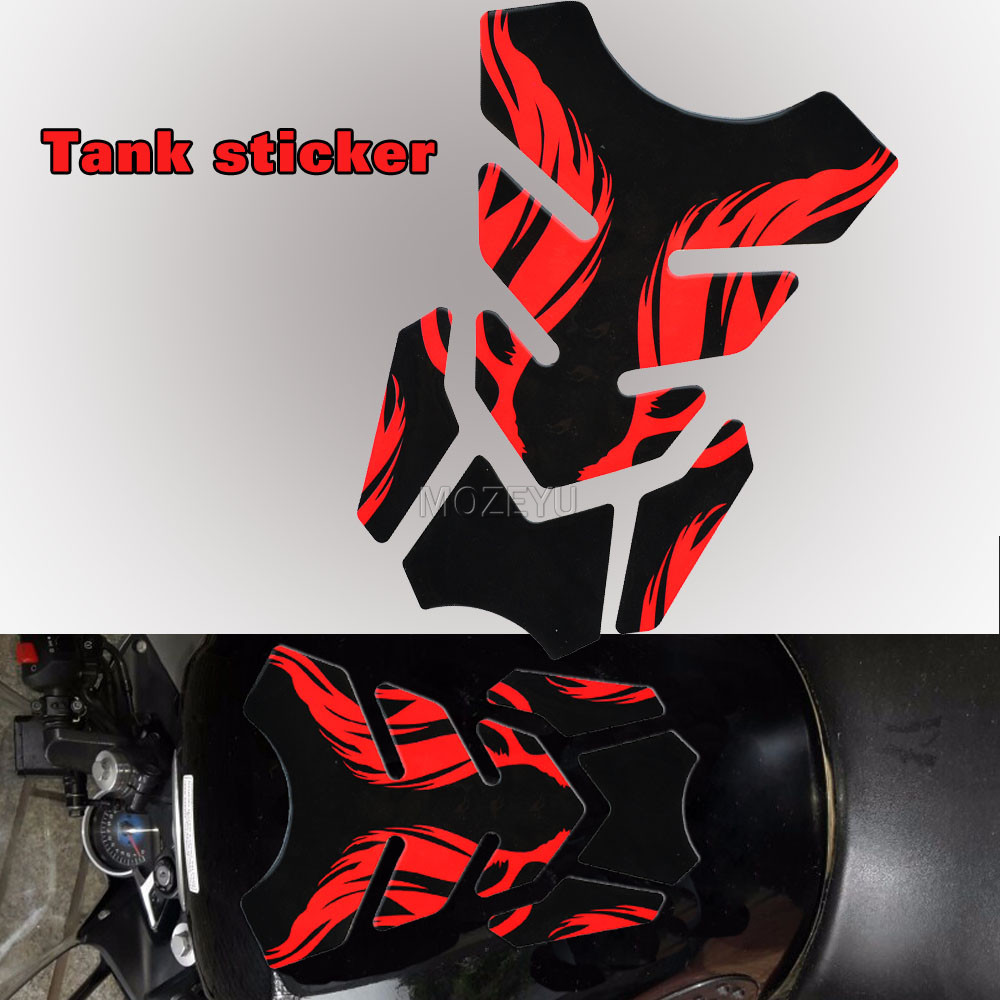 For SUZUKI Motorcycle 3D Gas Fuel Oil Tank Pad Rubber Sticker Protector Cover Decals
