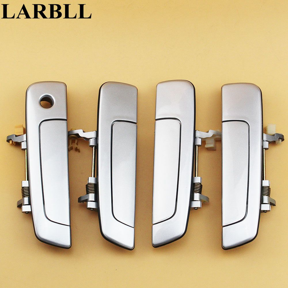LARBLL 4PCS/Set Car Auto Chrome Exterior <font><b>Door</b></font> <font><b>Handle</b></font> for <font><b>Mitsubishi</b></font> Pajero IO PININ Cheetah H77 image