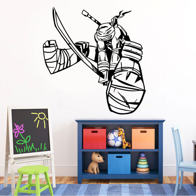 Ninja Turtles Kids Wall Decals Superhero Wall Sticker Vinyl Wall Poster Wall  Decorations Living Room House