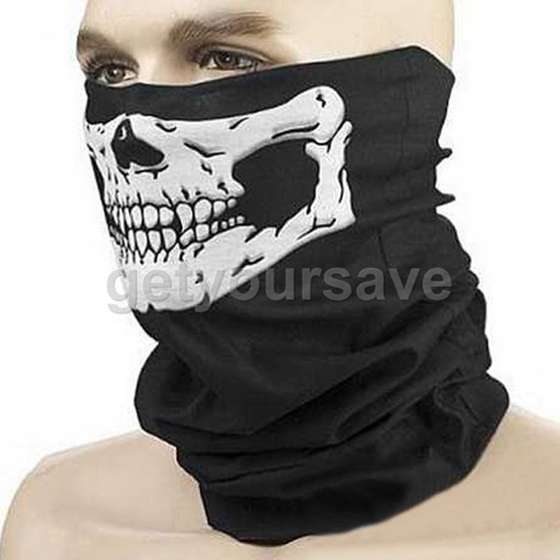 Halloween Horror Skull Skeleton Bike Motorcycle Mouth Mask Balaclava Cover Scarf