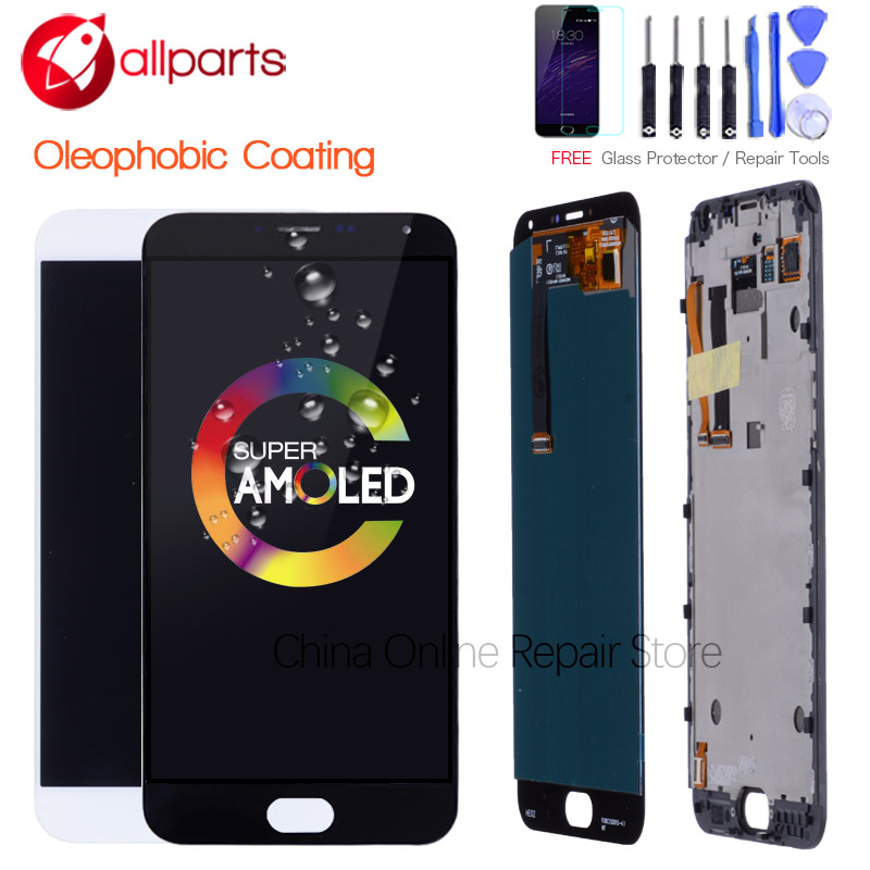 For MEIZU MX5 LCD Display Original 5.5'' AMOLED For MEIZU MX5 LCD Display Touch Screen with Frame Replacement