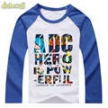 3 Colors Baby T-shirts Custom Print Letter Pattern Boy Girls Long Sleeve Clothes Kid Cotton Tee Tops 2017 Spring Hot Sale DCY029
