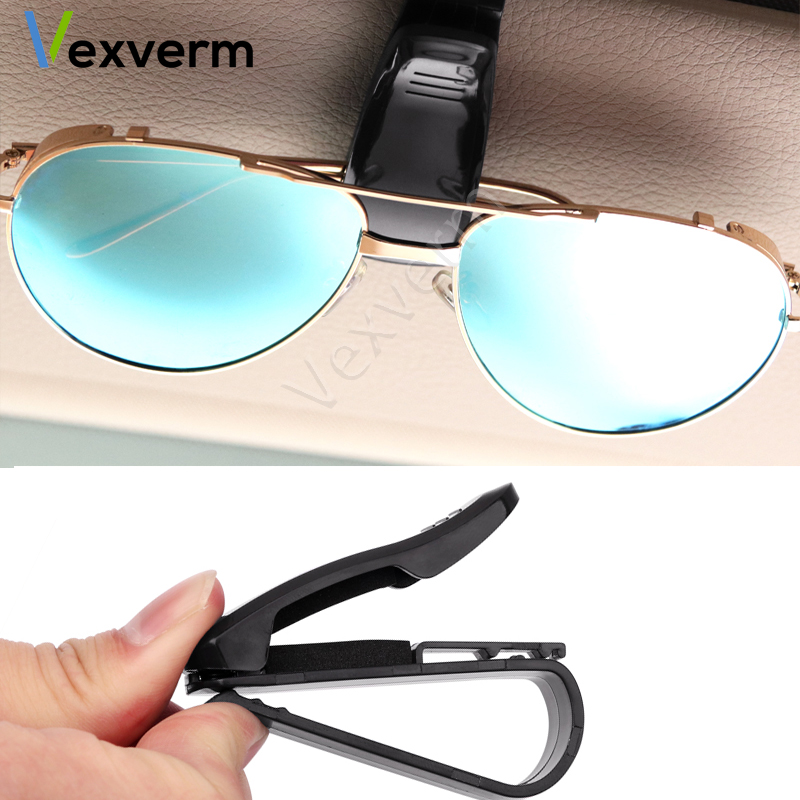 BMW M Tech Portable Sun Visor Car Glasses Sunglasses Card Ticket Storage Holder
