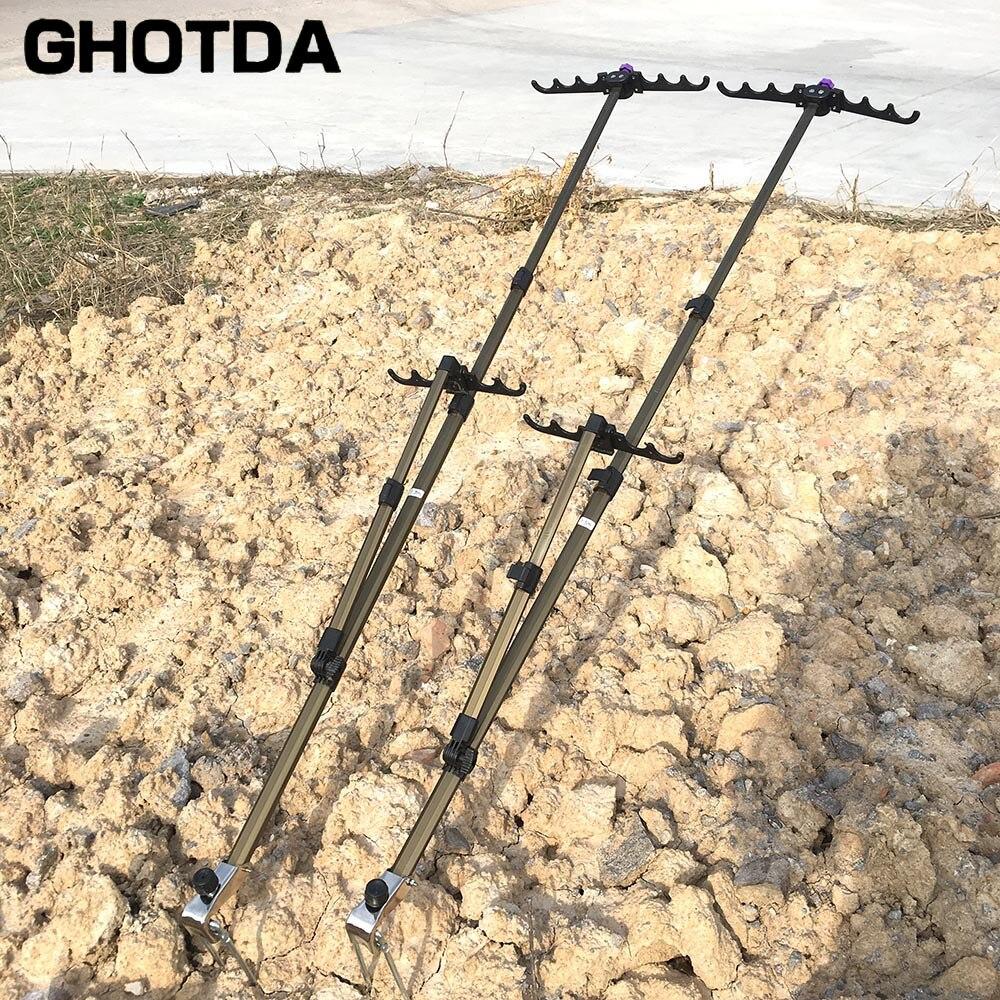 Varillas de pesca telescópicas aleación de aluminio 1,5 m 1,7 m 2,1 m varilla soporte