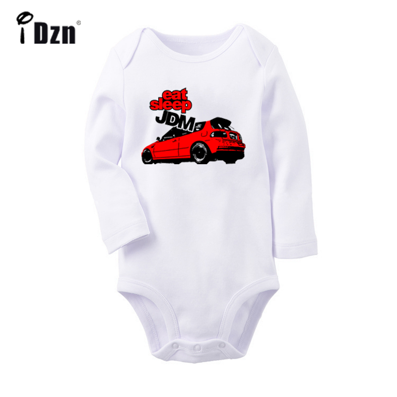 Eat Sleep JDM STICKER BOM Music Notation Treble Clef Violin Newborn Baby Bodysuit Toddler Long Sleeve Onsies Jumpsuit Clothes