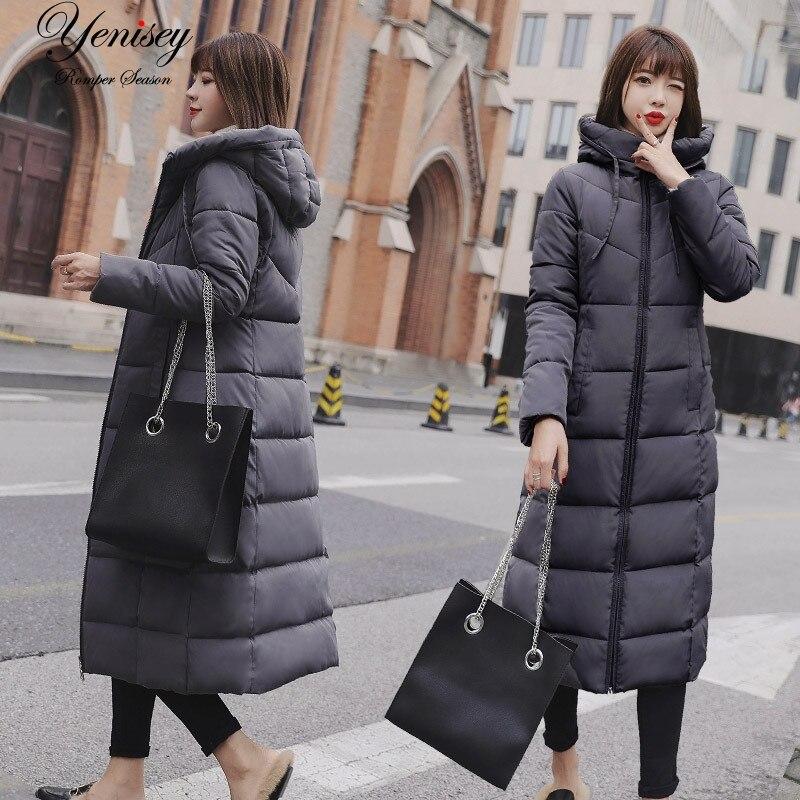 2019 Female Winter Coat Down   Parka   Women Winter Jacket New Long Waterproof Padded Jacket