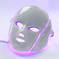LASPOT 2018 New invented 7 colorful LED Mask Massage Face Photon Light Ttherapy For Skin Rejuvenation And Acne Treatment