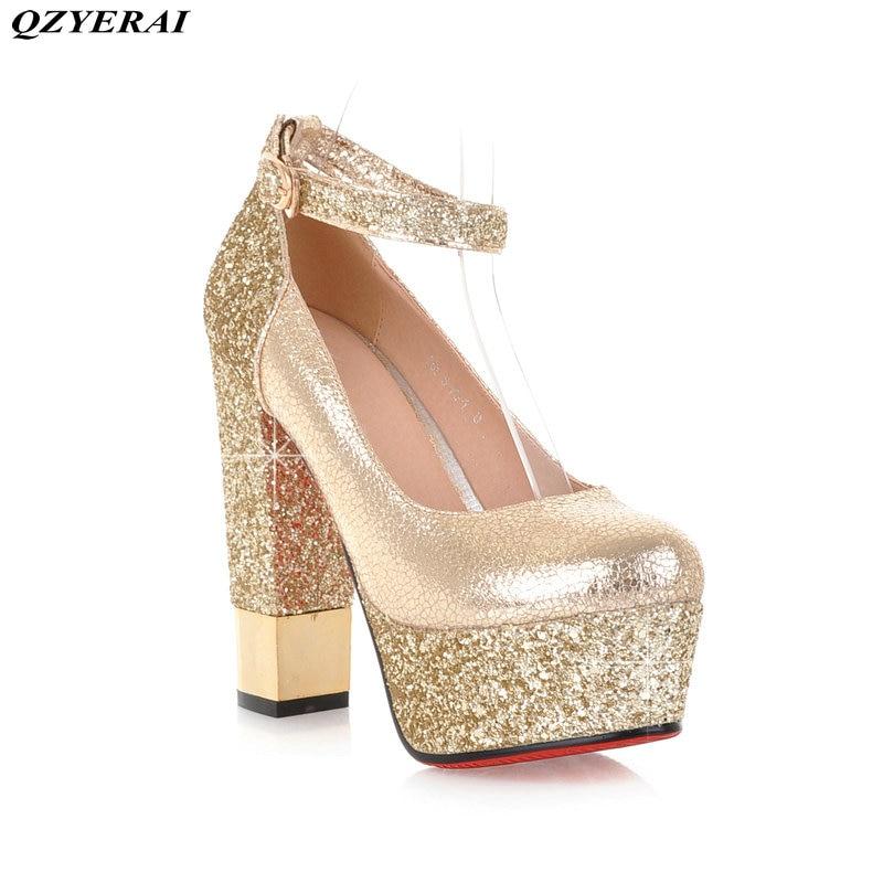 QZYERAI New metal super high heel font b women s b font single font b shoes