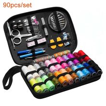70Pcs/set Sewing Box Kit Accessories Travelling Quilting Stitching Embroidery Sewing Needle Craft Sewing Kits with Case Mom Gift(China)