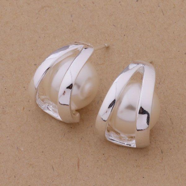 AE298 Hot 925 sterling silver earrings , 925 silver fashion jewelry , nice pearl /cftakxaa apvajhca