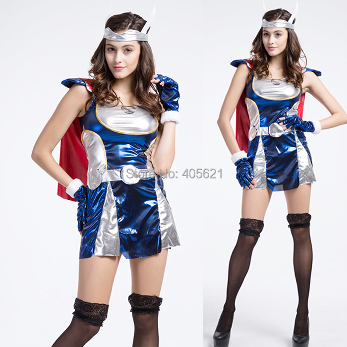 american thor thorgirl halloween super heroes adult female avengers cosplay soldiers game uniforms performance clothes costumes - Heroes Halloween Costumes