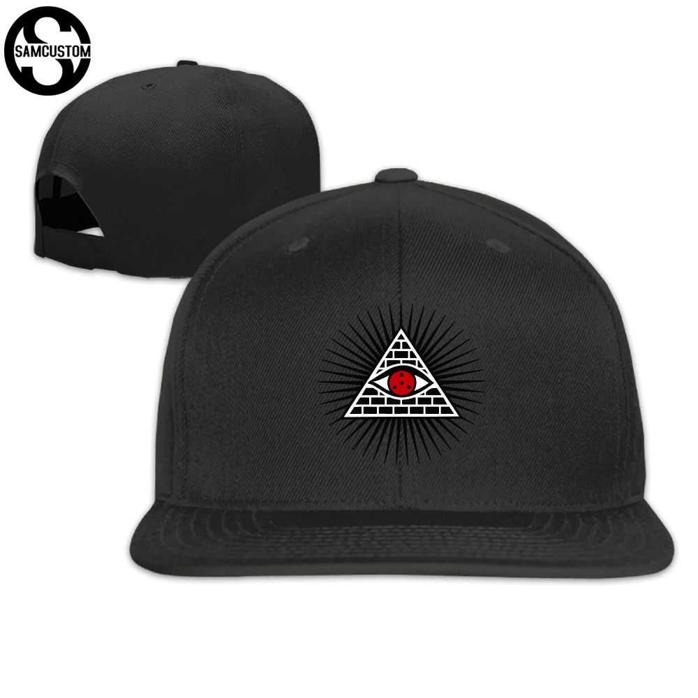 30b3e3922a6 SAMCUSTOM illuminati eye cap baseball cap Side 3D printing Casual cap gorras  hip hop snapback hats