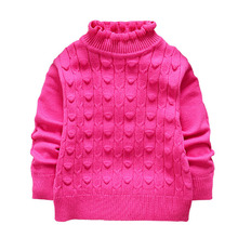 Hot Sale Winter Autumn Spring Children Sweater Girl Child Sweater Kids Turtleneck Pullover Outerwear Sweater 3 Color