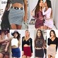Юбки Женщин 2016 Весна Осень Уличная Мода American Apparel Высокая Талия Бинты Bodycon Крест Раза Карандаш Юбки 8 Цветов